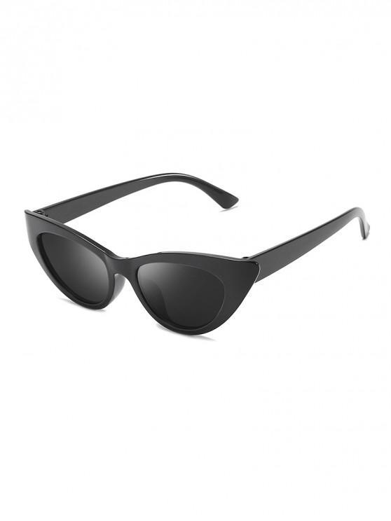 lady Triangle Catty Eye Polarized Sunglasses - BLACK