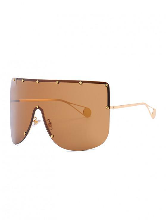 Gafas de sol sin montura de gran tamaño - Marrón