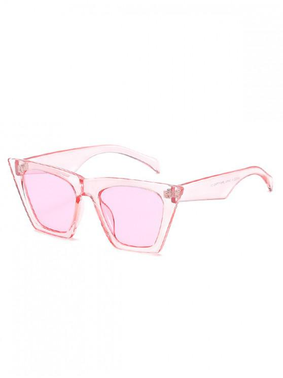hot Square Kitty Eye Polarized Sunglasses - PINK