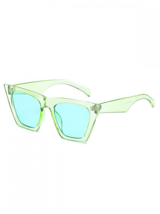 outfits Square Kitty Eye Polarized Sunglasses - JADE GREEN
