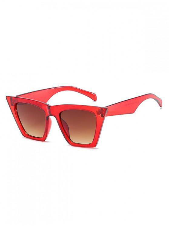 latest Square Kitty Eye Polarized Sunglasses - RED WINE