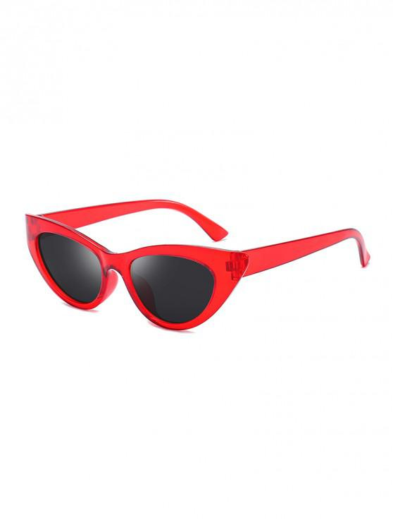 affordable Triangle Catty Eye Polarized Sunglasses - RED WINE