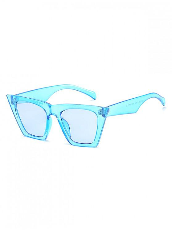 new Square Kitty Eye Polarized Sunglasses - CRYSTAL BLUE