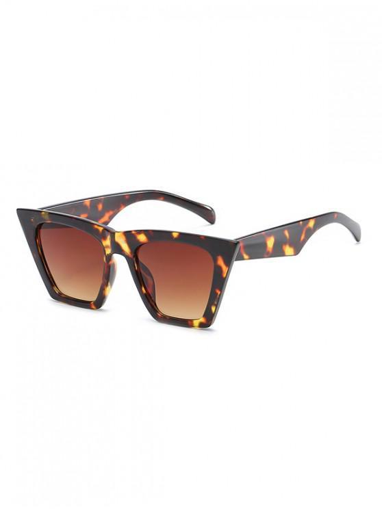 sale Square Kitty Eye Polarized Sunglasses - LEOPARD