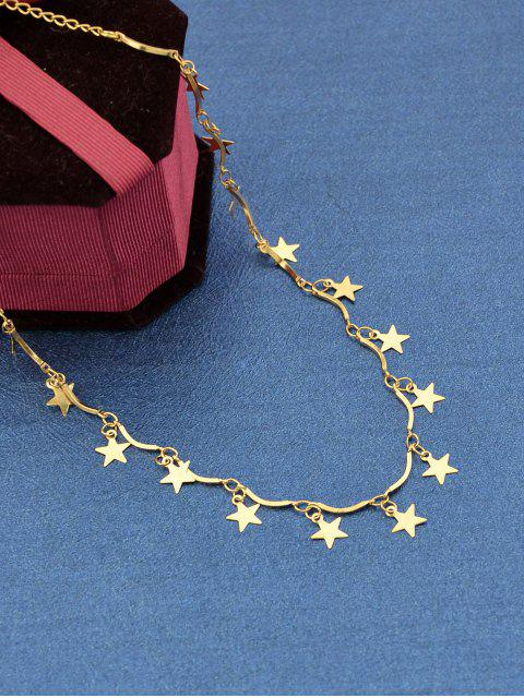 ladies Brief Star Charm Necklace - GOLD  Mobile
