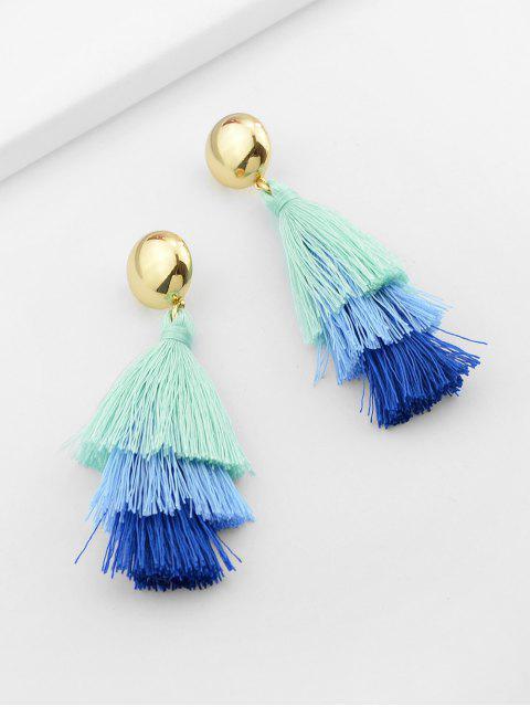 new Ombre Tassel Stud Drop Earrings - LIGHT SKY BLUE  Mobile