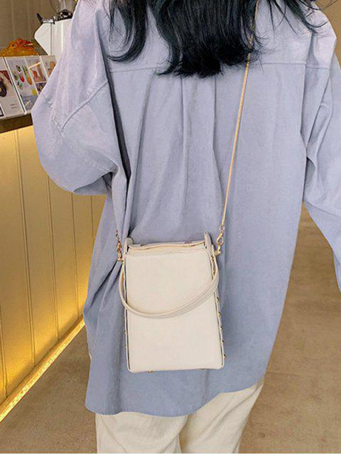new Rectangle Simple Chain Shoulder Bag - WHITE  Mobile