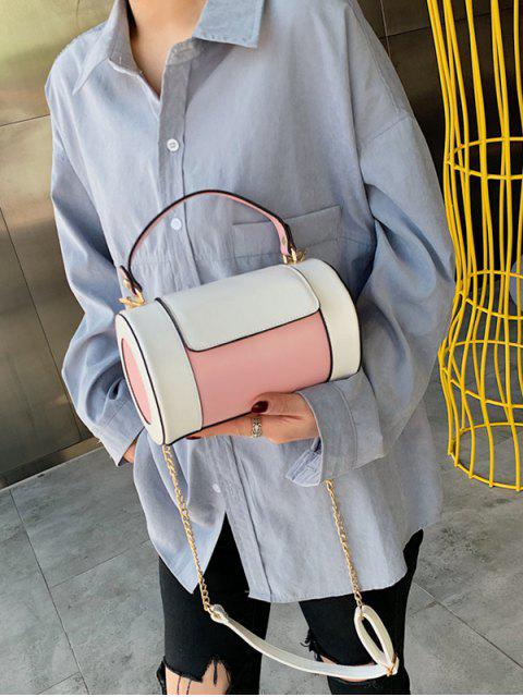 chic Small Leather Jointed Shoulder Bag - PINK  Mobile