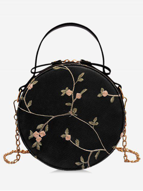 outfit PU Leather Lace Chain Crossbody Bag - BLACK  Mobile