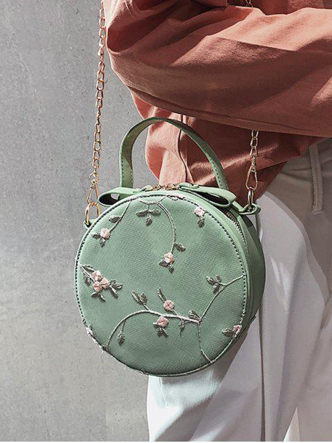 buy PU Leather Lace Chain Crossbody Bag - GREEN  Mobile