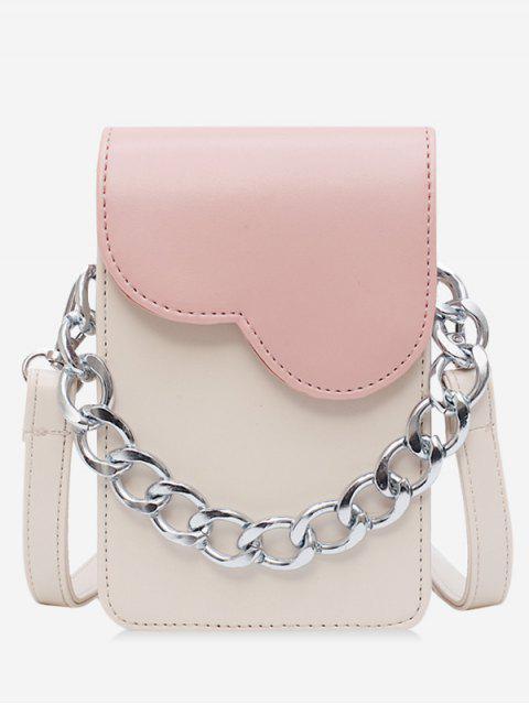 women's Chain Decor Mini Crossbody Bag - PINK  Mobile
