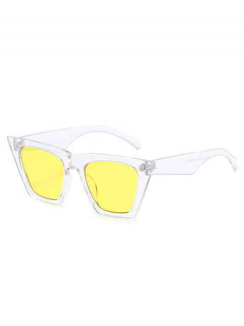 trendy Square Kitty Eye Polarized Sunglasses - YELLOW  Mobile