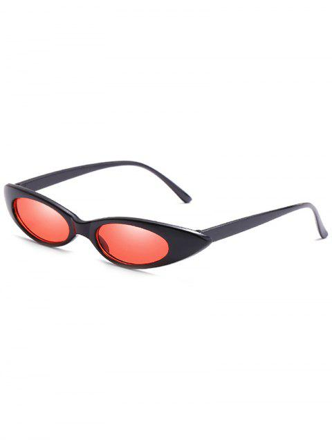 fancy Catty Eye Polarized Oval Sunglasses - RED  Mobile