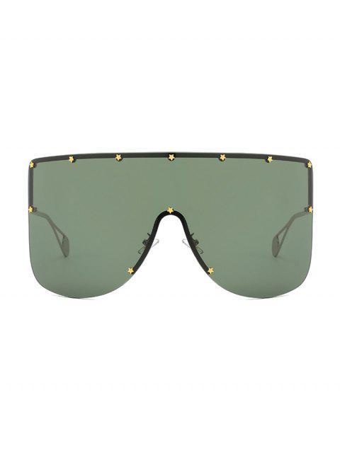 womens Oversized Star Rimless Sunglasses - DARK GREEN  Mobile
