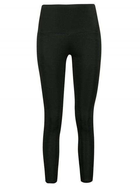 sale Criss Cross Crop Leggings - BLACK XL Mobile