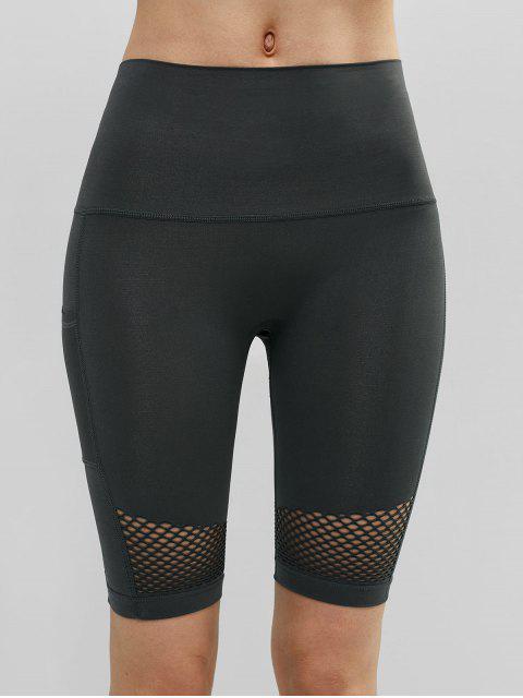Pantalones cortos de ciclista de gimnasio de calado ancho calado - Gris de Acorazado L Mobile