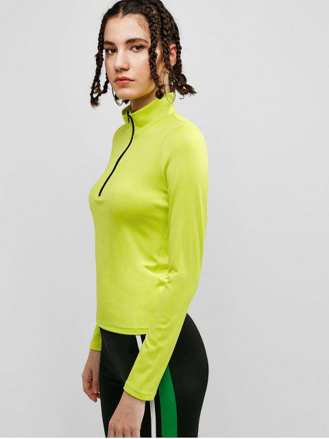 ZAFUL media cremallera soporte cuello camiseta - Té Verde L Mobile
