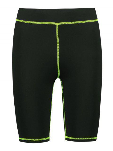 Shorts de ciclista de gimnasia elástica ajustados - Negro M Mobile