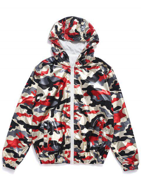 lady Hooded Camo Sun Protective Zip Jacket - ACU CAMOUFLAGE L Mobile