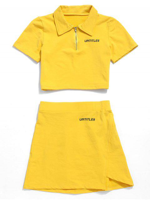 Conjunto de falda con cremallera media de UNTITLE8 - Amarillo S Mobile