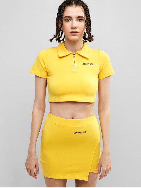 Conjunto de falda con cremallera media de UNTITLE8 - Amarillo M Mobile