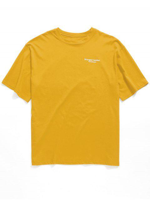 Camiseta Slogan Graphic Túnica Boyfriend Tee - Amarilla de Abeja  Talla única Mobile