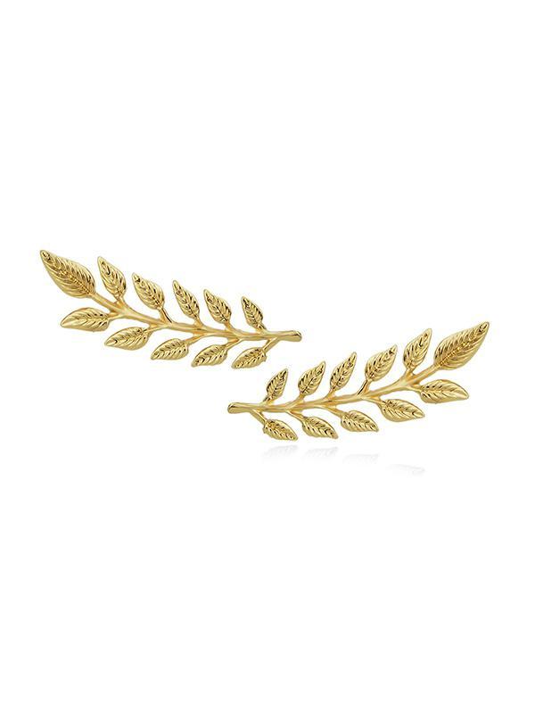 2Pcs Leaf Shape Brooch Set
