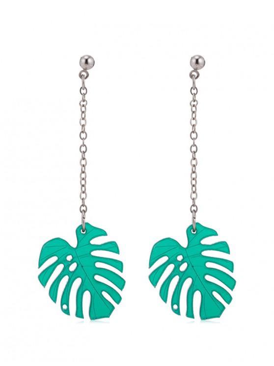 64afdda87 7% OFF] 2019 Palm Leaf Shape Drop Earrings In MEDIUM TURQUOISE   ZAFUL
