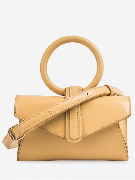 sale Round Handle Design Summer Shoulder Bag - YELLOW