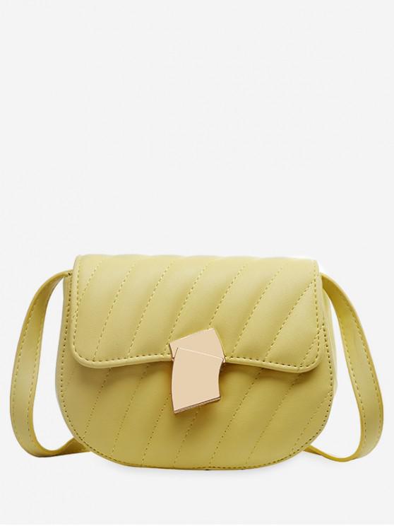 women's Solid Simple Crossbody Shoulder Bag - SUN YELLOW