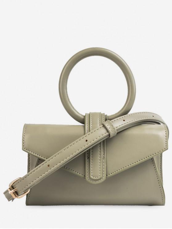 lady Round Handle Design Summer Shoulder Bag - GREEN