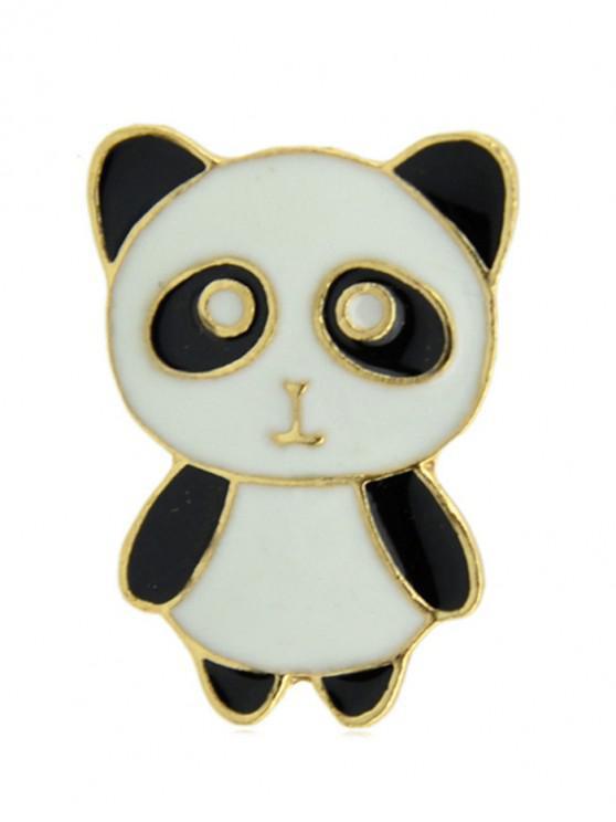 Broche de esmalte Panda Shape - Blanco