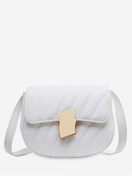new Solid Simple Crossbody Shoulder Bag - WHITE