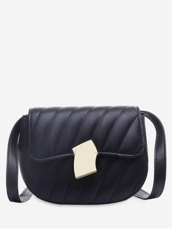 hot Solid Simple Crossbody Shoulder Bag - BLACK