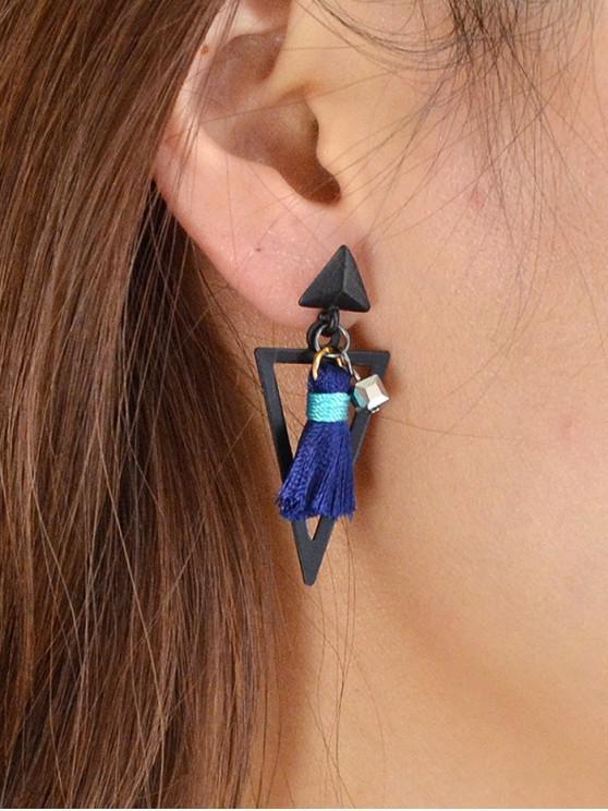 outfit Geometric Tasseled Drop Earrings - BLUE