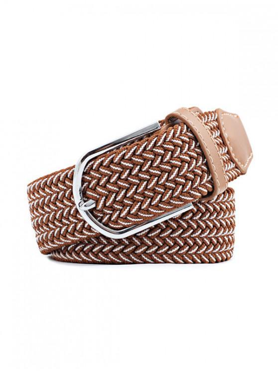 womens Elastic Canvas Pin Buckle Belt - MULTI-F
