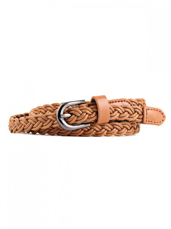 best Braid Pin Buckle Dress Belt - CAMEL BROWN