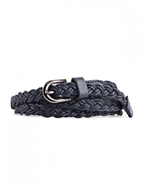 hot Braid Pin Buckle Dress Belt - CADETBLUE