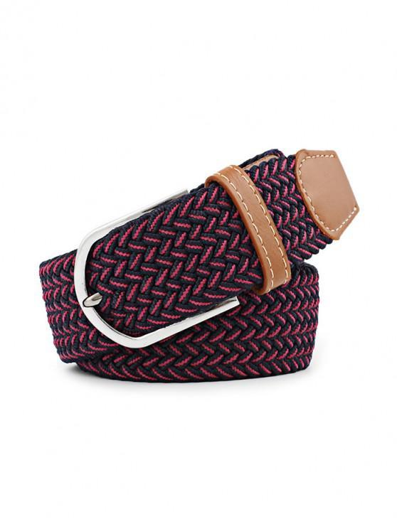 Cinturón de hebilla de lona elástica - Multicolor-B