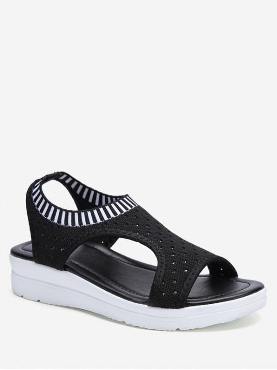 buy Casual Breathable Platform Sandals - BLACK EU 41