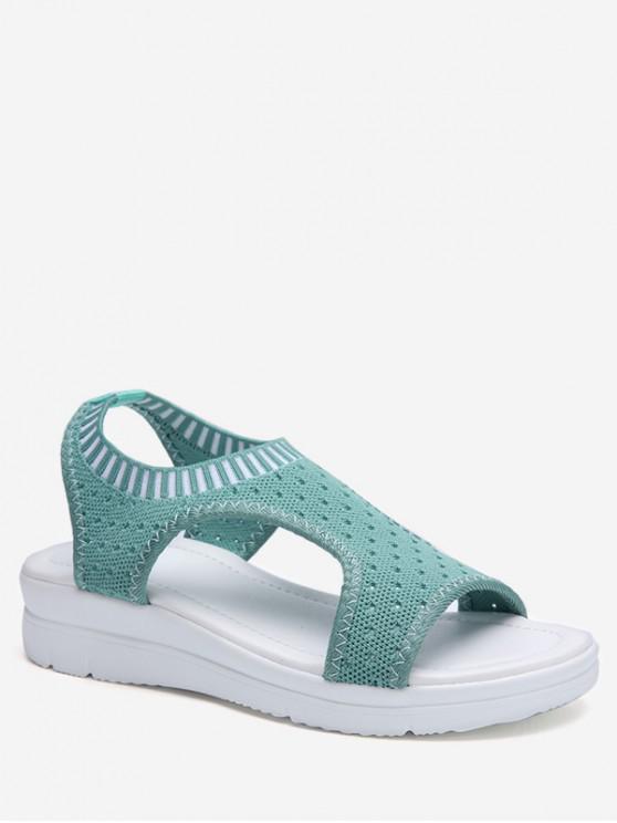 online Casual Breathable Platform Sandals - LIGHT AQUAMARINE EU 36
