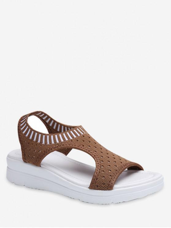 new Casual Breathable Platform Sandals - DARK KHAKI EU 45