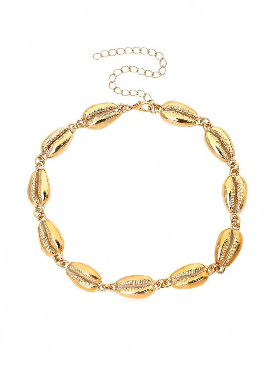 lady Shell Shape Short Necklace - GOLD