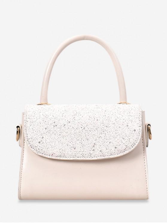 unique Summer Paillette Square Shoulder Bag - WHITE