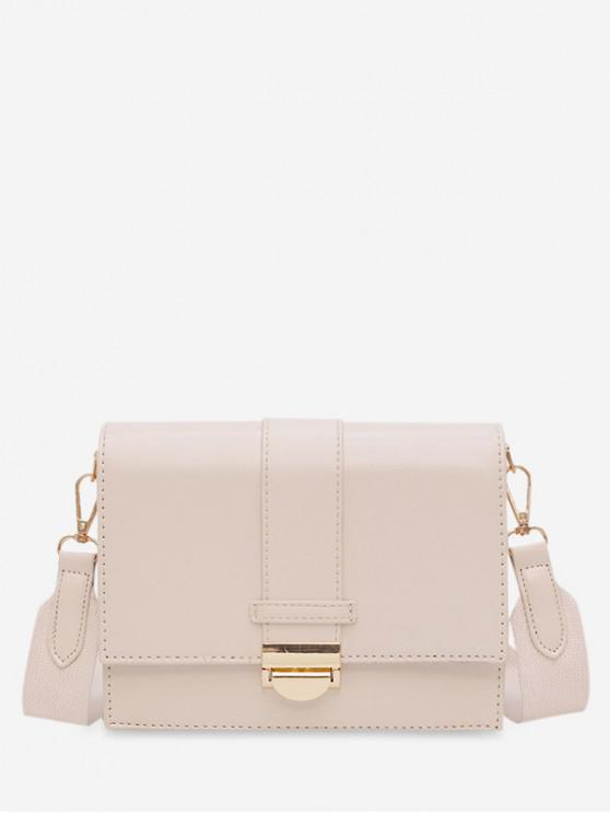 chic Square Simple Hasp Shoulder Bag - WHITE