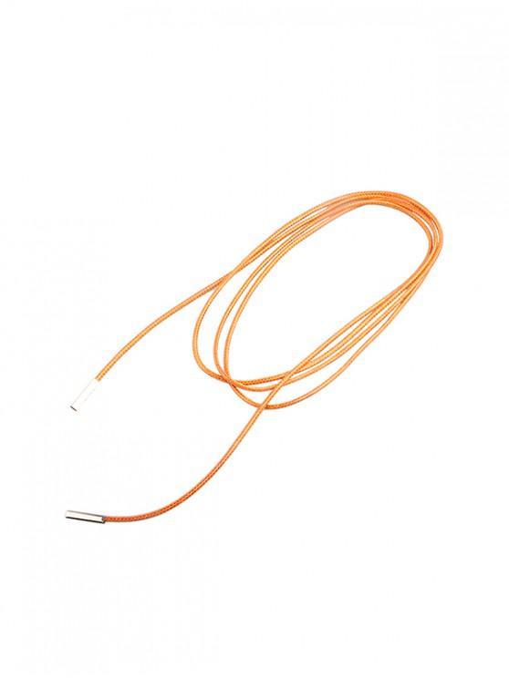 Collar de múltiples capas de cuerda larga simple - Naranja de Calabaza