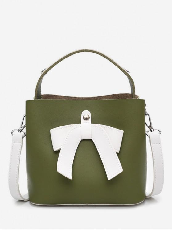 Bolso Bowknot Design Bucket - Verde de Helecho