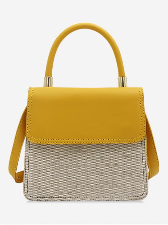 Bolso de hombro simple estilo general - Amarillo