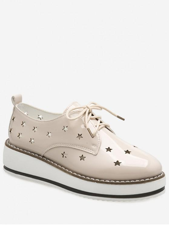 ladies Hollowed Star Breathable Shoes - BEIGE EU 39