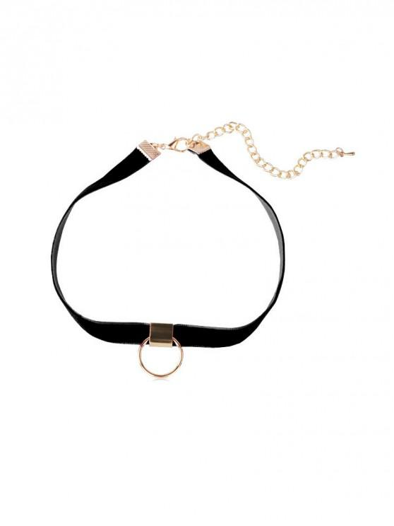 outfits Circle Choker Necklace - BLACK